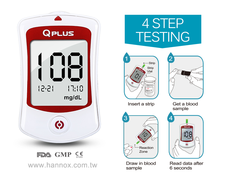 Blood Glucose Monitoring System Q Plus Medical