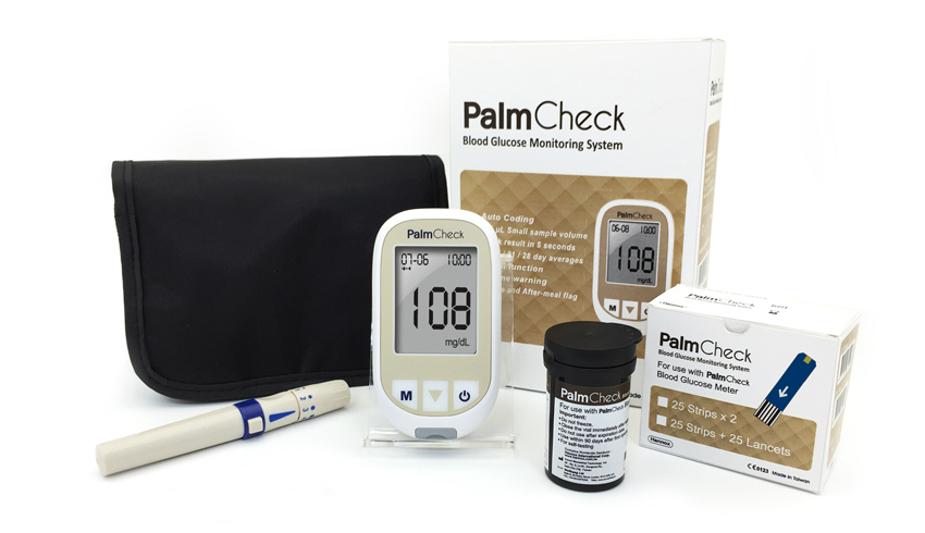 PalmCheck blood glucose monitoring system