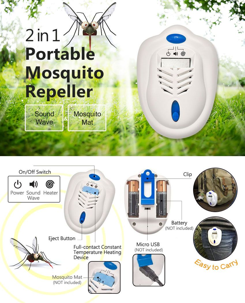 2 in 1 Portable Mosquito Repeller