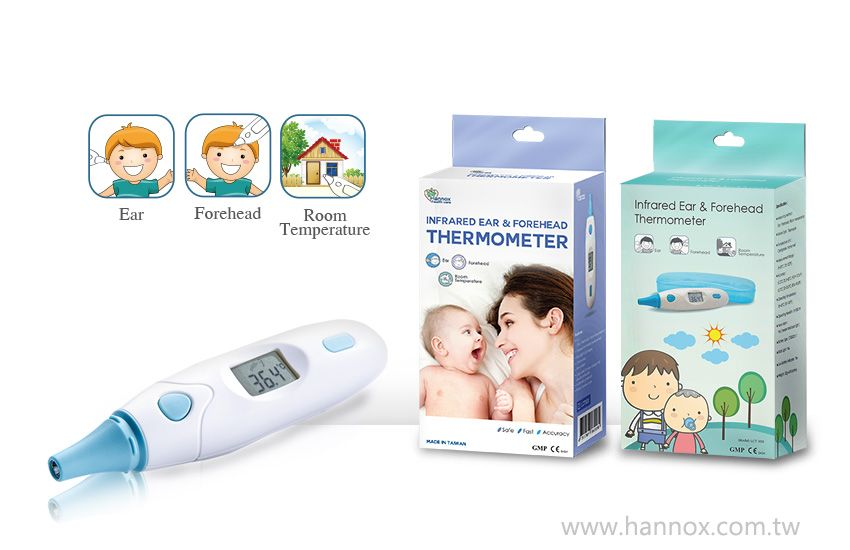 Infrared ear forehead thermometer